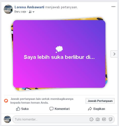 Cara mudah membuat Status Jawab Pertanyaan di Facebook