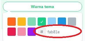 Tampilan saat ingin menentukan sendiri warna tema Twitter