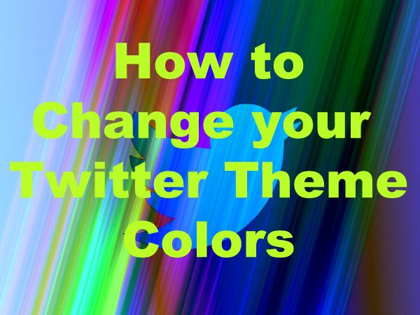 Cara merubah warna background atau tema Twitter