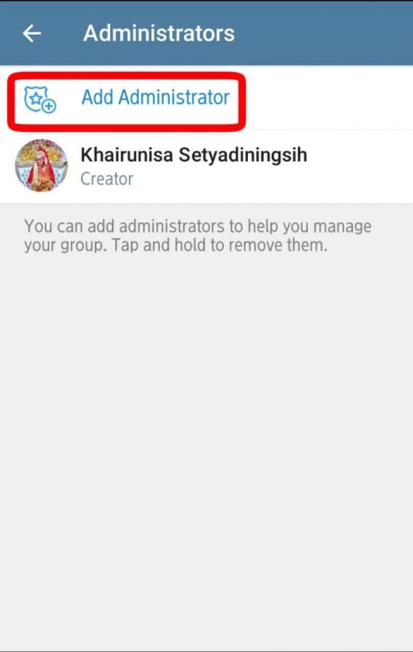 Add administrator/tambah admin group