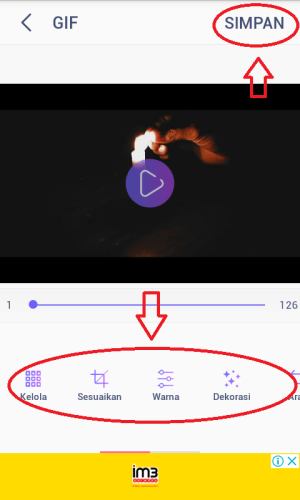 Penyesuaian video GIF.