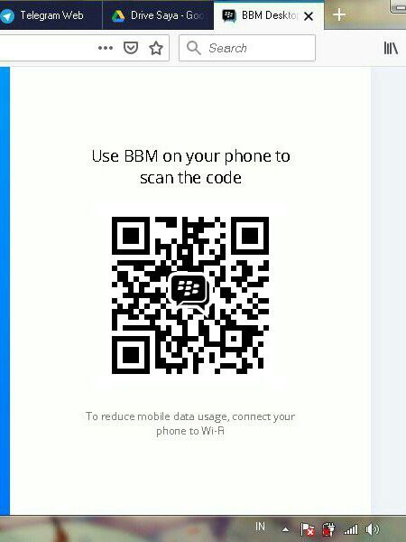Barcode di BBM Web