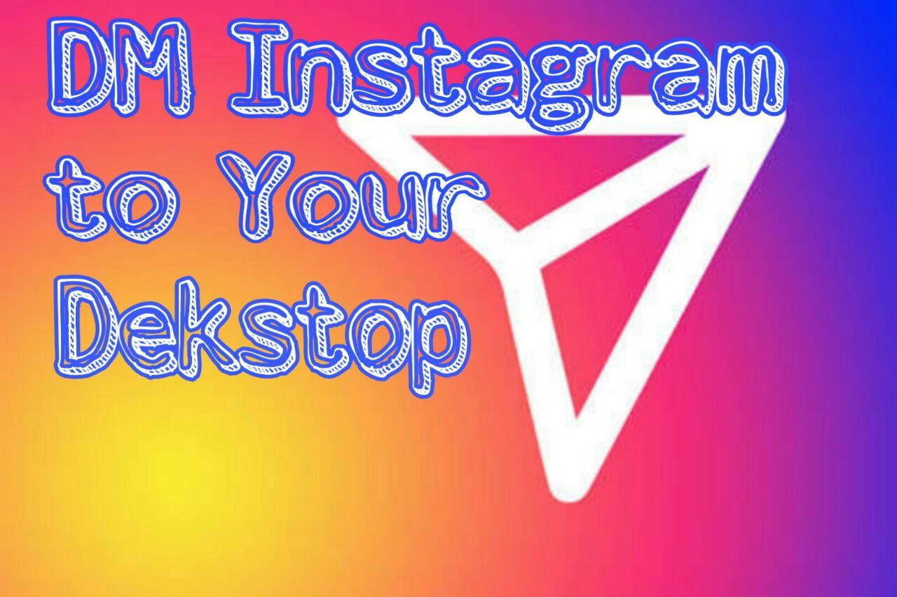 Cara DM instagram di dekstop/PC