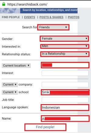 Tampilan halaman searchisback.com