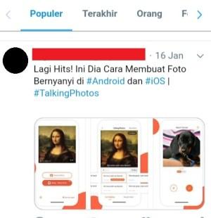 Contoh membuat tagar untuk konten promosi di Twitter