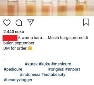 Contoh membuat tagar untuk konten pribadi di Instagram