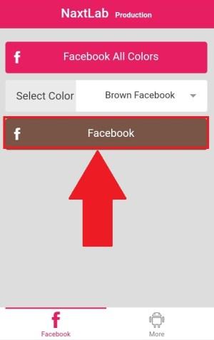 """Memilih tombol """"Facebook"""" supaya diarahkan ke halaman login"""