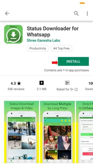install aplikasi status downloader for whatsapp