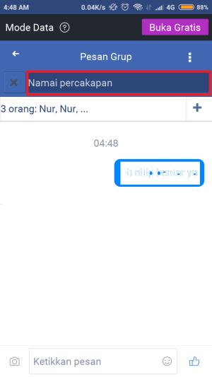 kamu bisa ubah nama grup chat disini