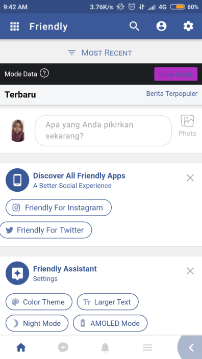 halaman depan friendly facebook