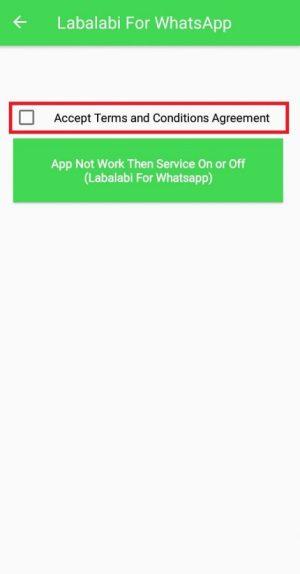 mencentang term and conditions untuk lanjut menggunakan aplikasi