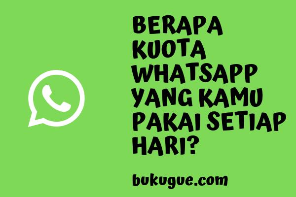 Berapa kuota whatsapp saat telpon atau video call?