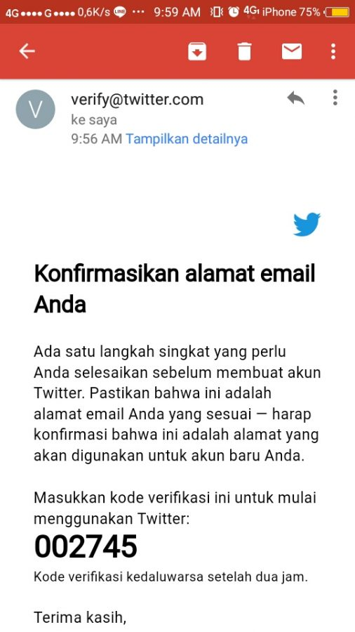 Contoh email