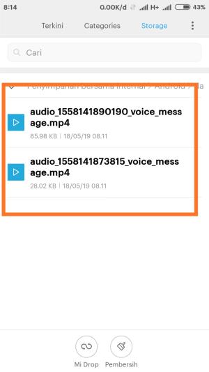 Voice Note IG kamu ada di folder Music.