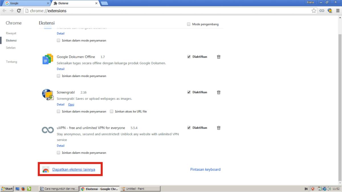 Dapatkan ekstensi Google Chrome lainnya.