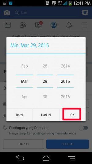 """Menu """"buka"""" filter waktu tanggal, bulan tahun"""