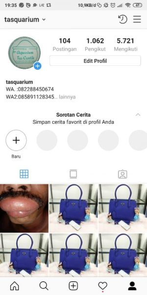 menu awal Instagram