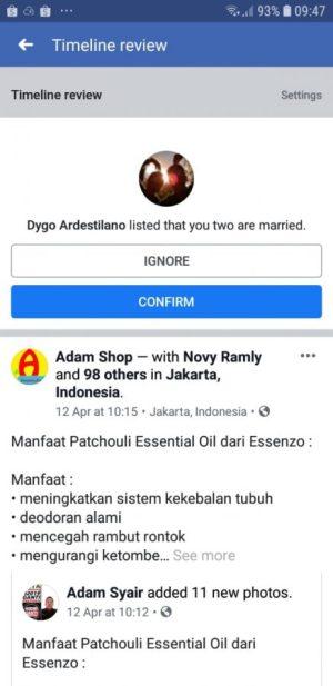 Konfirmasi Status Hubungan