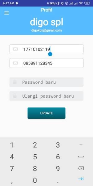 MAsukkan Nomor KTP dan Nomor Telpon