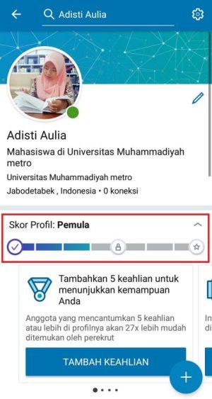 """""""Skor Profil"""" sebagai acuan kelengkapan profil profesional kamu di LinkedIn"""