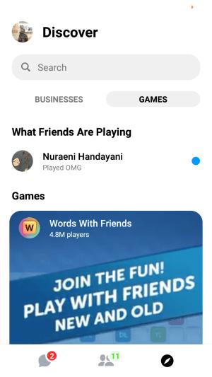 games pada Messenger