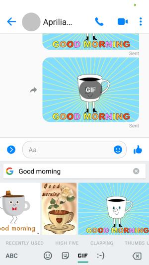 Messenger Lite tidak mendukung animasi bergerak
