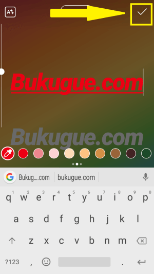 klik icon centang tanda selesai