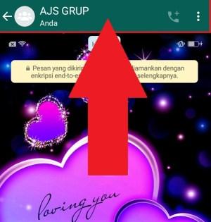 Klik pada judul grup untuk masuk ke pengaturan grup