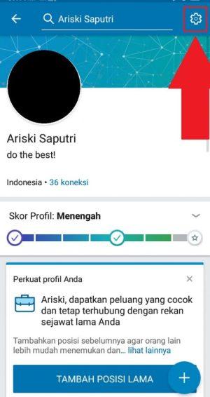 Tampilan Halaman Profil LinkedIn