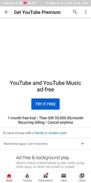 pilih try it free