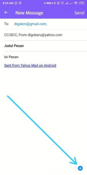 masukkan alamat email tujuan, subject, dan isi pesan