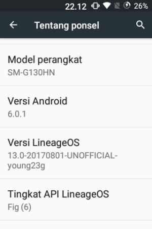 Setelah upgrade OS