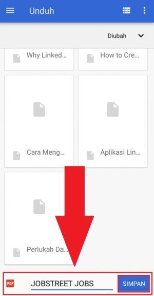 Menentukan nama file dan tempat dimana file akan disimpan