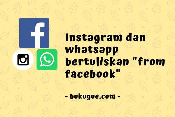 """Whatsapp """"From Facebook"""" maksudnya apa? Bisakah dihilangkan?"""