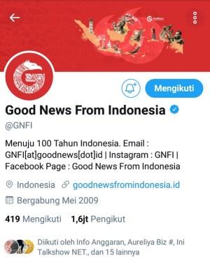 Akun Twitter @GNFI