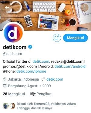 Akun Twitter @Detikcom