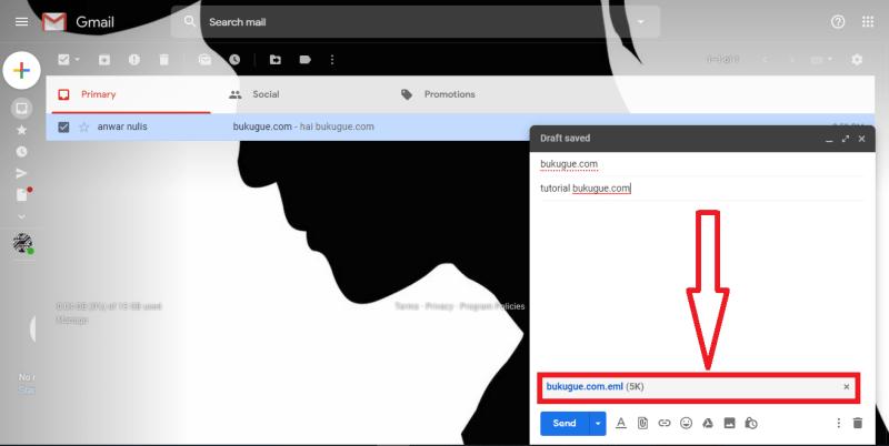 contoh email yang di lampirkan