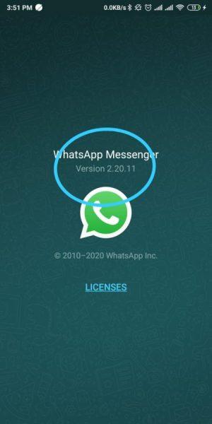 Versi Whatsapp