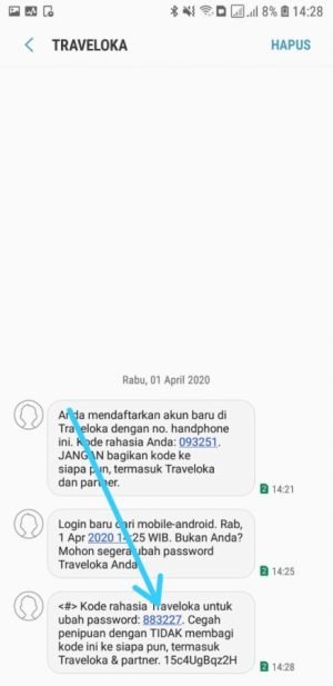 Kode Verifikasi SMS