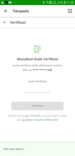 Masukkan kode verifikasi Login