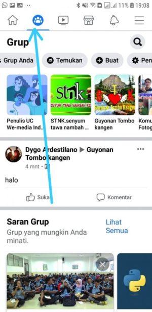 Halaman awal facebook