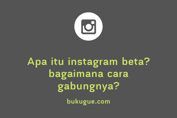 Apa itu program beta instagram? Ingin tau cara joinnya?