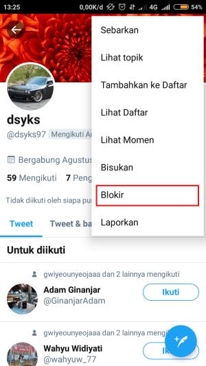 pilih blokir