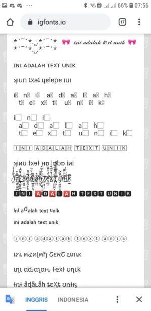 Contoh Text Unil Yang Tersedia