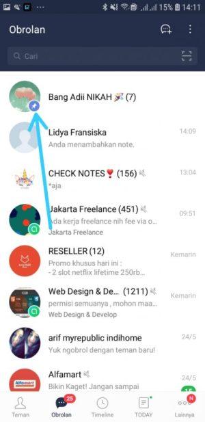 Pin Chat Berhasil