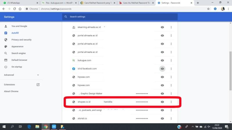 Cara melihat password yang tersimpan di Chrome 8