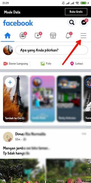 buka aplikasi facebook