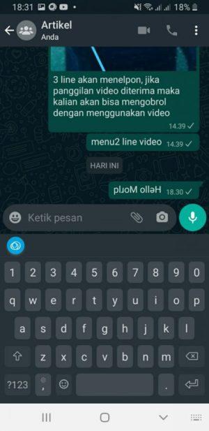 paste tulisan terbalik ke whatsapp