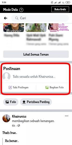 cara agar orang tidak bisa menulis di dinding facebook