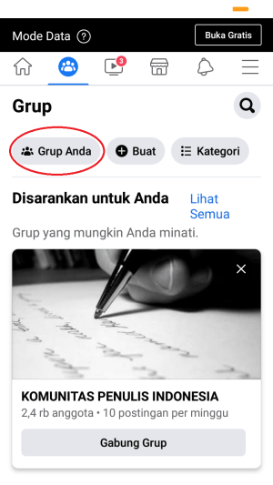 """buka """"grup anda"""""""